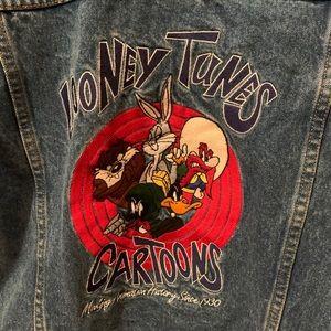 Looney Tune Vintage Warner Bros denim jacket